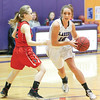 Teá Flynn drives to the basket for Hammondsport, Wednesday, Jan. 17.
