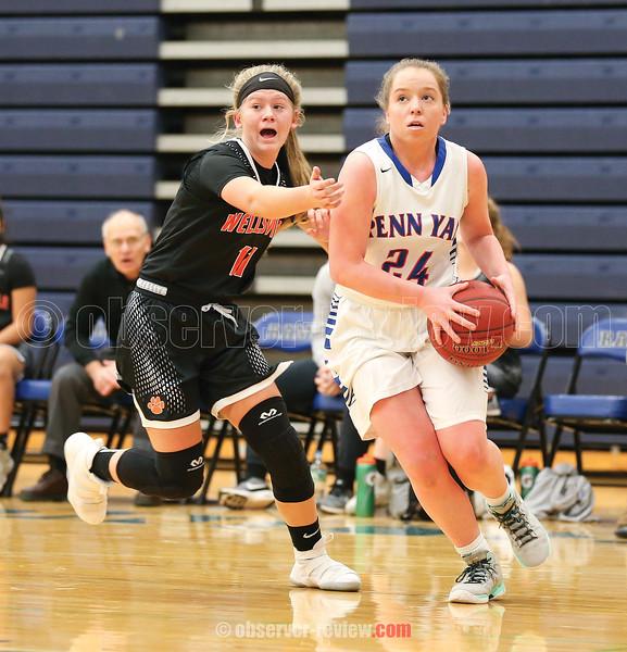 Hannah Keech drives to the basket against Wellsville last week.