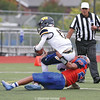 Mekhi Mahan makes a sack for Penn Yan against Wayne last weekend.