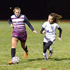 Olivia Grover moves the ball upfield Friday, Oct. 12. PHOTO BY: Doug Yeater