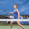Abby Garvey lines up a forehand for Penn Yan last week at Penn Yan Academy.