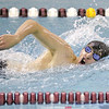Brett Walters swims the final leg of the 400 yard freestyle relay, Thursday, Dec. 6 against Dryden.