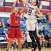 Danielle Leszyk deflects a rebound to a teammate last weekend.