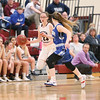 Alexis Saunders drives the ball towards the basket last week.