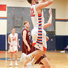 Dylan Stape takes an open shot in the game against Newark, Friday, Feb. 9.