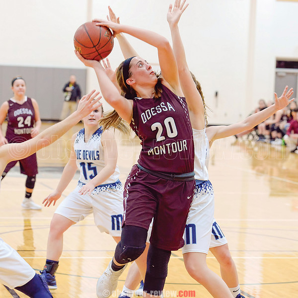 Most Valuable Player Olivia Grover had 29 points in the IAC championship game Thursday, Feb. 15. Photo by: Don Romeo