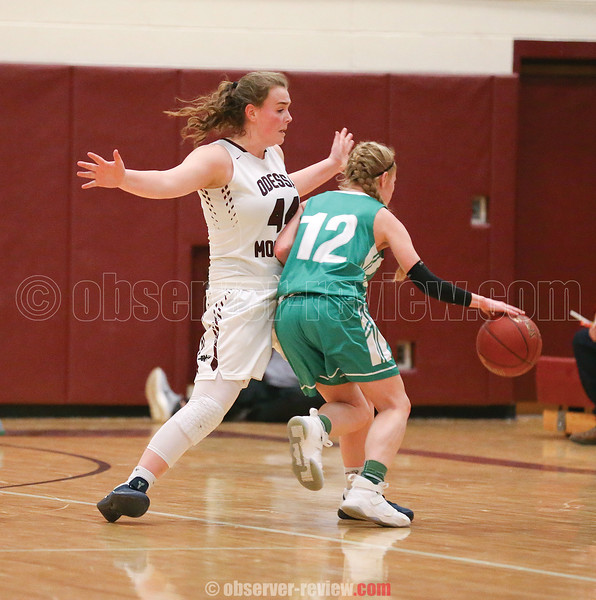 Gillian Clark works on defense for Odessa last week.