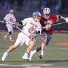 Conner Fingar moves the ball towards the Canandaigua goal, Friday, April 6.