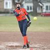 Kayla Andersen delivers a pitch for Penn Yan, Thursday, April 12.