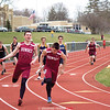 Austin Brace hands over the baton to Nic Laursen in the race last week. Photo by: Briana Taft