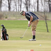Patrick Bannon putts for Watkins Glen, Wednesday, May 2.