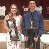 Gillian Clark and Curtis Harris were awarded the Harold Lynch Athlete of the Year title. PHOTO PROVIDED