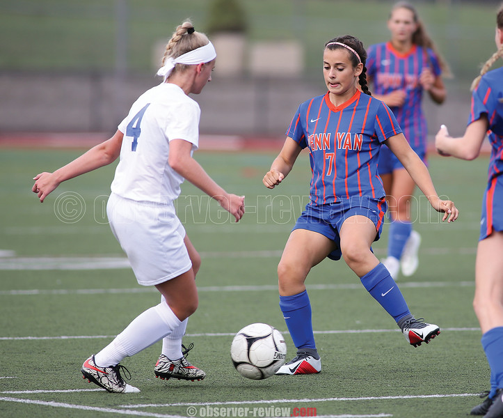 Penn Yan's Keuka Miranda-Wiltberger tries to take possession, Friday, Sept. 7.