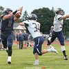 Zach Elliott reaches for a pass in the Saturday game. It fell incomplete.
