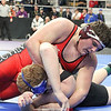 Houseknecht wrestles in the first round.