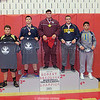 Dylan Houseknecht (center) won the Robert Bradshaw Invitational Wrestling Tournament at Canandaigua last weekend. PHOTO BY: Bettelynn Bravo