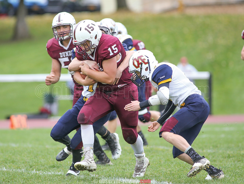 Kenneth Empson Jr. advances over the line of scrimmage last weekend.