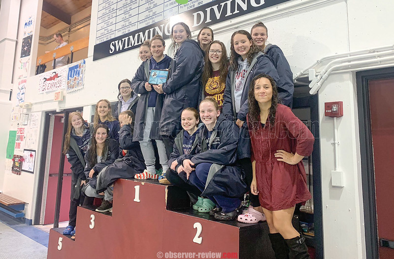The Watkins Glen girls swim team took first place at the Elmira Invite last weekend. Photo by: @WGswimming