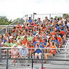 The student section of the bleachers was in full-force for the Saturday football game.