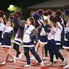 The Watkins Glen cheerleading squad leads a cheer, Saturday night at Watkins Glen.