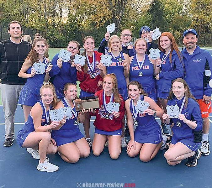 The Penn Yan girls tennis team captured their second consecutive sectional title, Monday, Oct. 21 at Canandaigua. Photo by: Penn Yan Athletics