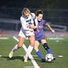 Penn Yan team captain Rachel Wheeler battles for control of the ball Friday, Oct. 25.