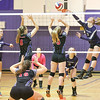 Julia Bennett connects for a powerful spike Friday, Oct. 4.