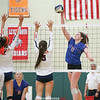 Caitlin Wunder spikes the ball for Penn Yan last week.
