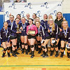 The Hammondsport varsity volleyball team poses with their Section V Class D3 trophy, Friday, Nov. 8.