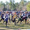 Thomas Kressly (left with gray headband) competes at Plattsburgh in the state final. PHOTO PROVIDED