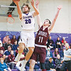 Hammondsport's Zak Davis goes for a layup as Dundee's Logan Salvatore defends, last week.