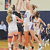 Penn Yan's Jenna Curbeau grabs for a rebound, Friday, Dec. 13. DUSTY BLUMBERGS PHOTO