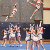 The Penn Yan cheerleaders perform at the boys game last Saturday.
