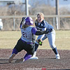 Madyson Simpson makes an out at second base last week.