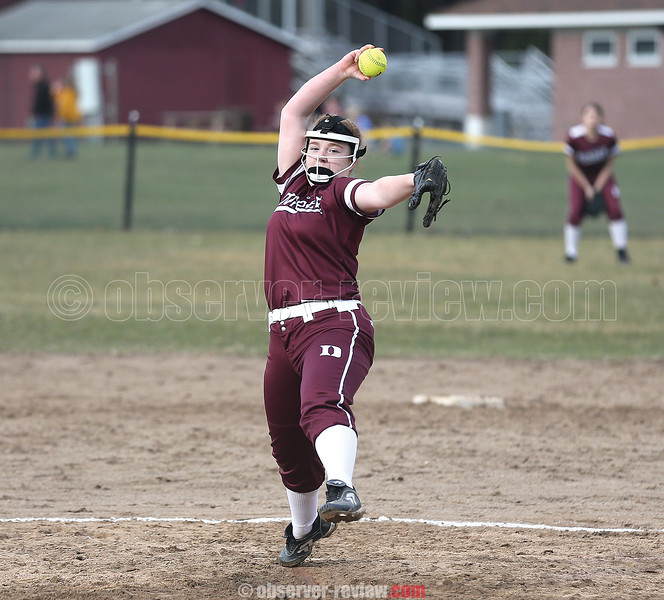 Megan Sutherland recorded eight strikeouts in the Monday game.