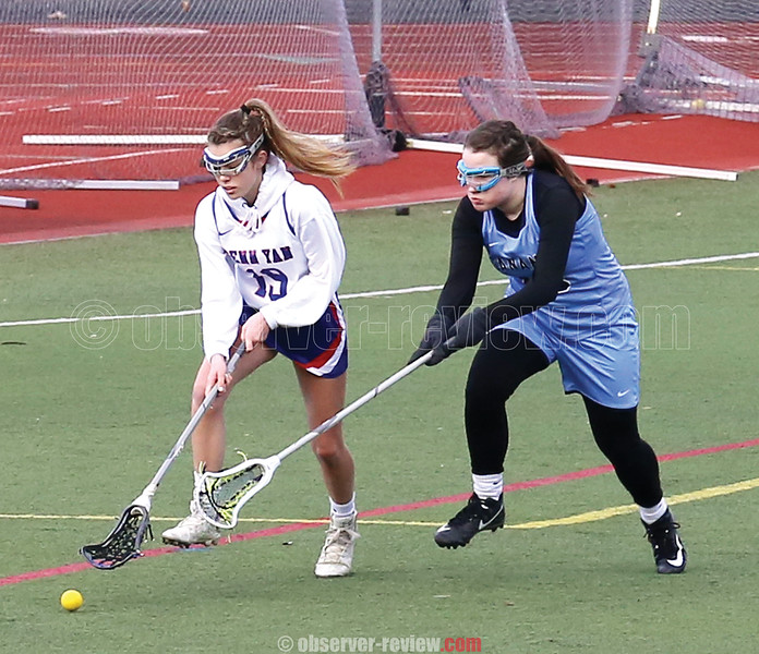 Grace Ledgerwood chases a ground ball against Gananda, Wednesday, April 10.