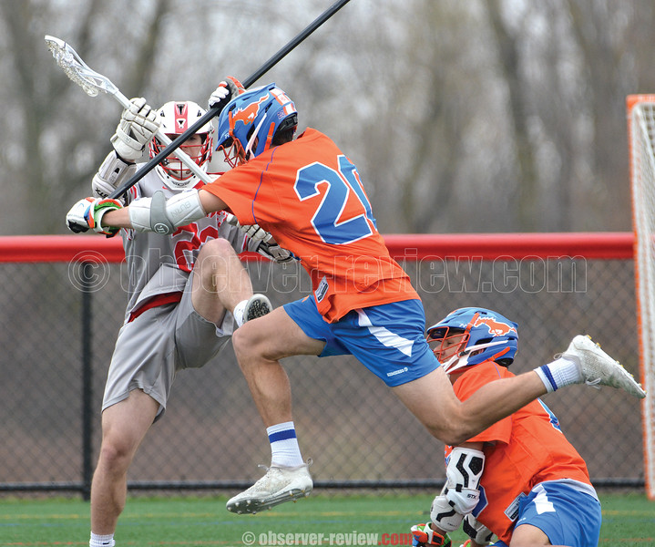 Bryan Duran defends for Penn Yan last weekend against Canandaigua. PHOTO BY: Dusty Blumbergs