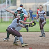 McKennah Lott catches the ball on third base, Friday, May 17.