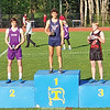 Gabe Planty took first in the division and overall in the 800 meter run at the IAC championship.