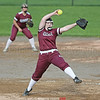 Megan Sutherland had 10 strikeouts for Dundee in the game against Wheatland Chili, Thursday, May 23.