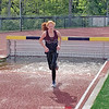Breanna Carl exits the water during the steeplechase at the Class C championships last week. PHOTO PROVIDED