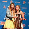 The Girls Coaches' Trophy was presented to Joddie Decker (right) by Sydney Bloom (left).