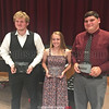 Athletes of the Year Zach Elliott, Kennedey Heichel and Dylan Houseknecht. PROVIDED