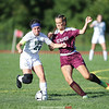 Dundee's Anna Bratlie battles for possession of the ball, Wednesday, Sept. 4.