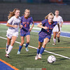Hayley Andersen advances the ball upfield in the game against Mynderse last week.