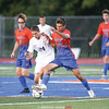 Tyler Griffin moves the ball under pressure last week.