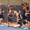 The Watkins Glen cheerleading squad competes at Penn Yan last Saturday.