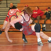 Hayden Erick wrestles in a match against Red Jacket-Bloomfield, Thursday, Jan 9.