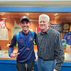 Gabe Planty and coach Rod Weeden have a picture taken at the New Balance Games, Friday, Jan. 17. PROVIDED