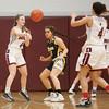 Savannah Eaves passes the ball to a Dundee teammate, Friday, Jan. 24.